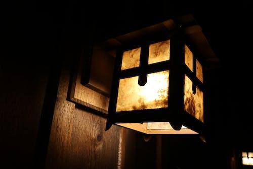 Free stock photo of dark, lamp, light, snow