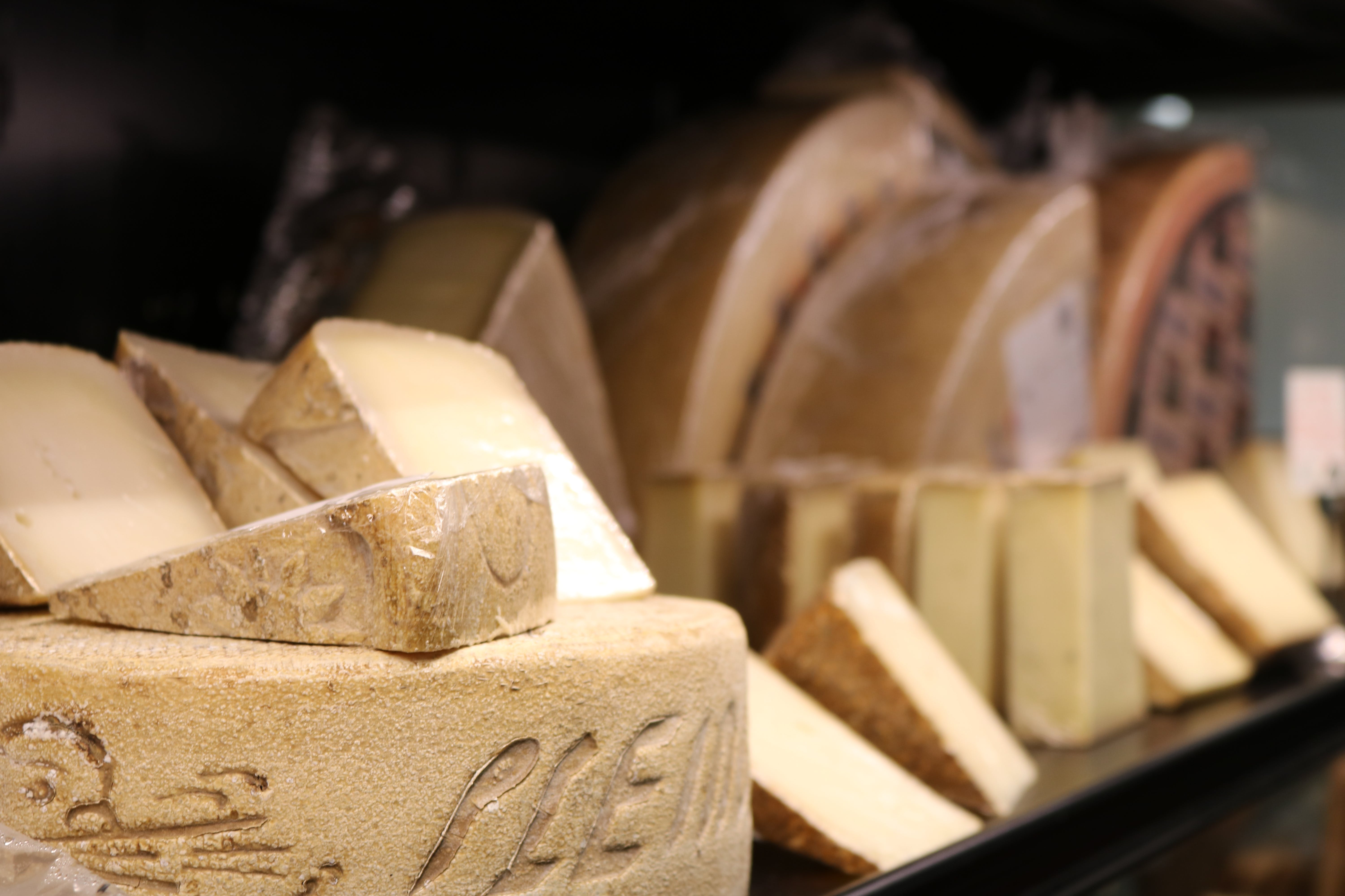 Free stock photo of food, cheese, store, wheel