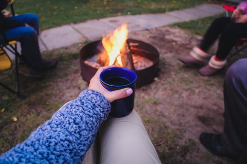 Free stock photo of campfire, coffee