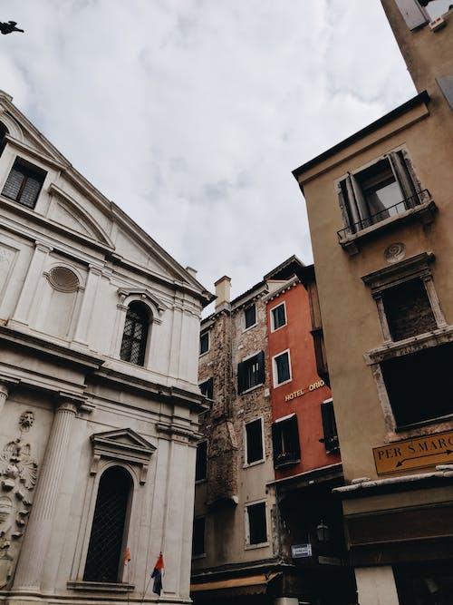Ingyenes stockfotó ablakok, beton, design, ég témában