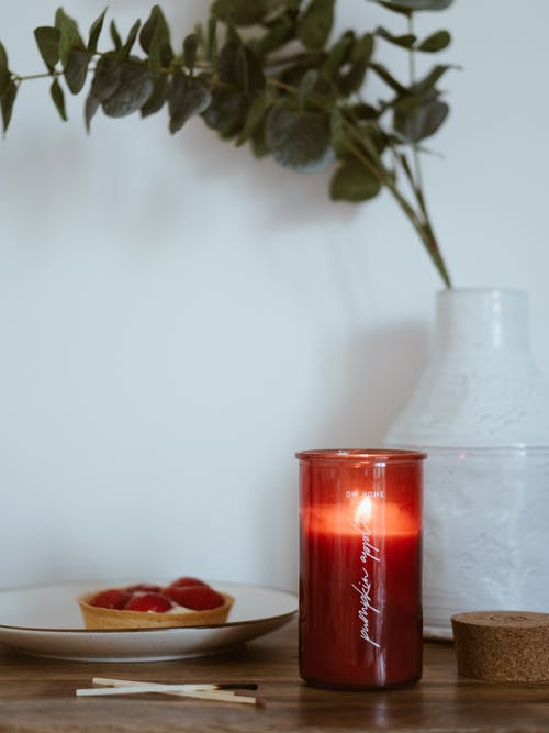 Red Glass Candle