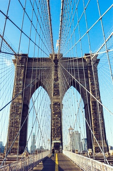 Free stock photo of landmark, new york, construction, bridge