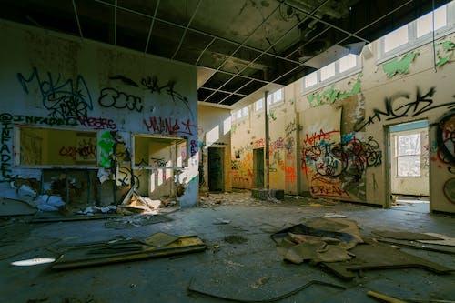거리 예술, 그래피티, 반달리즘, 버려진의 무료 스톡 사진