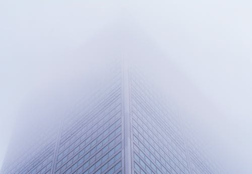 Building Covered with Fog