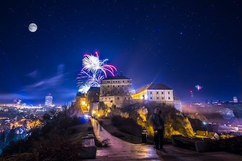 Free stock photo of castle, celebration, firework, hungary