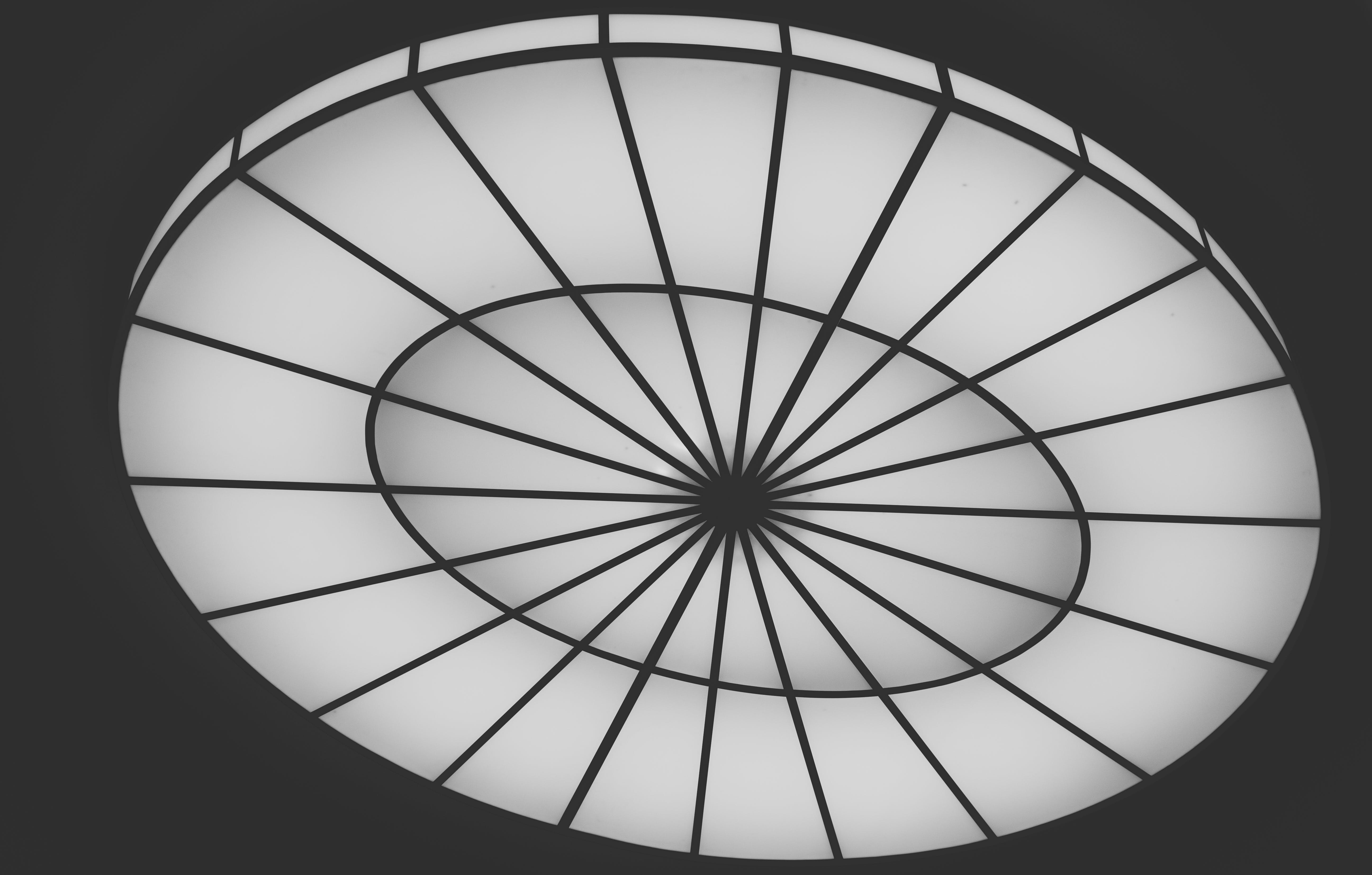 Round White Glass Ceiling