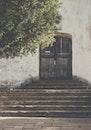 wood, steps, wall