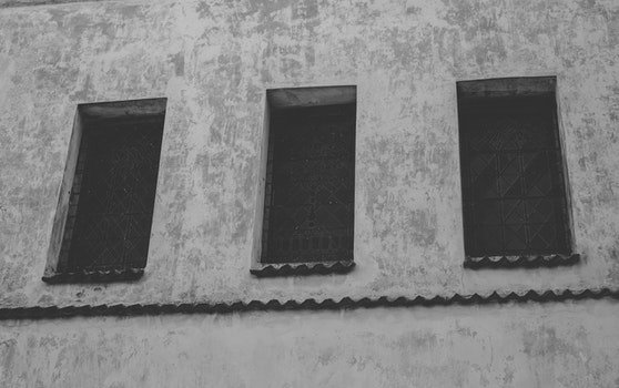 Free stock photo of wall, windows, rustic, old