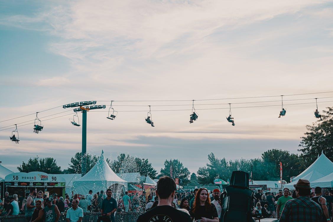 calle, carpas, festival