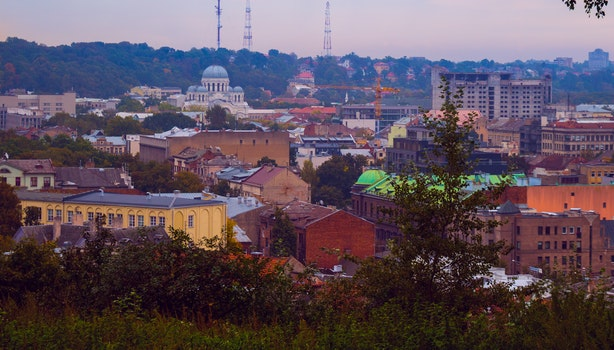 Free stock photo of city, landscape, sky, houses