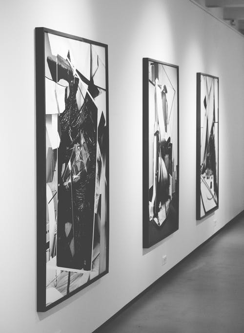 Three Black and White Paintings