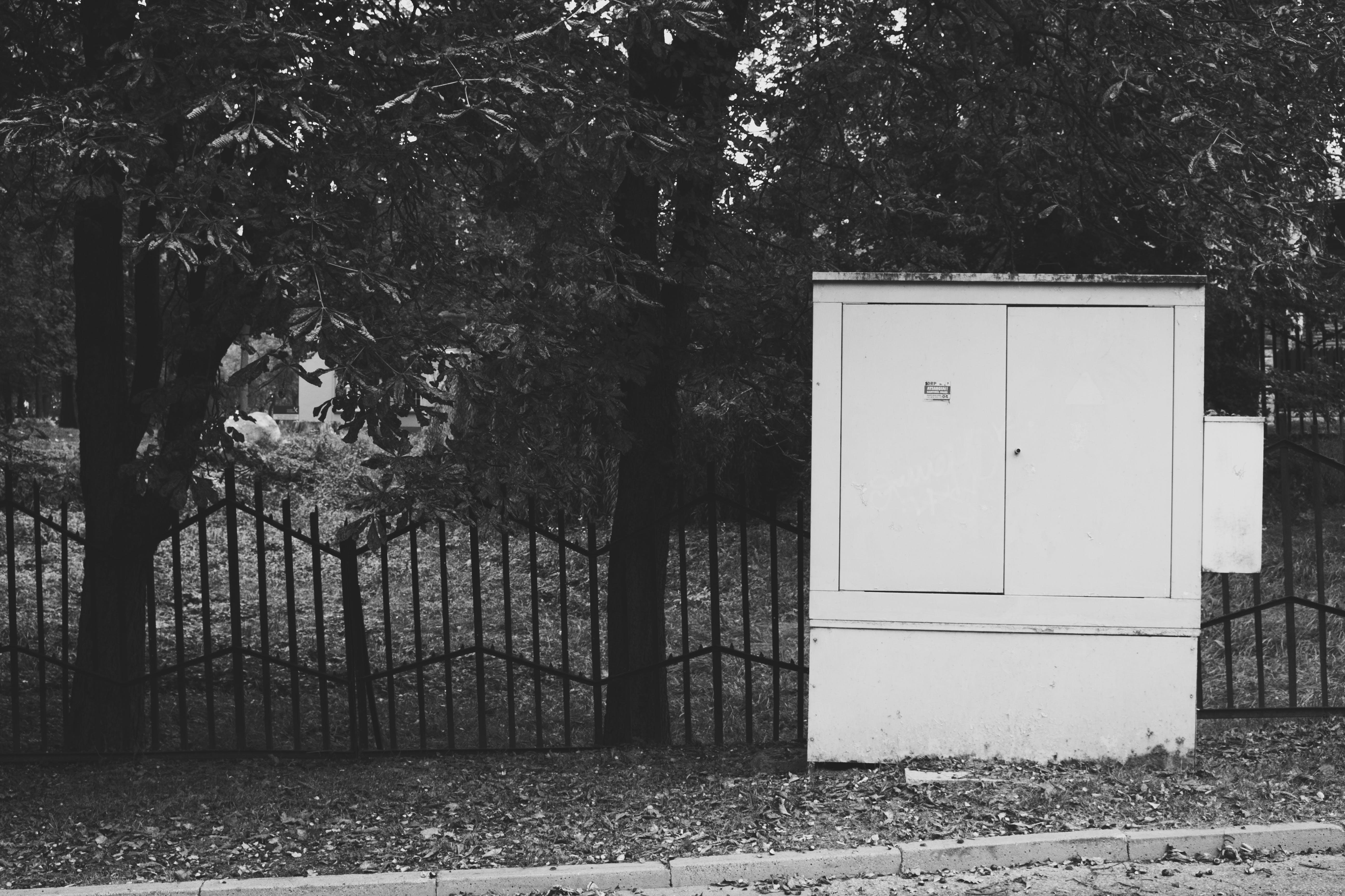 White Electrical Breaker Box