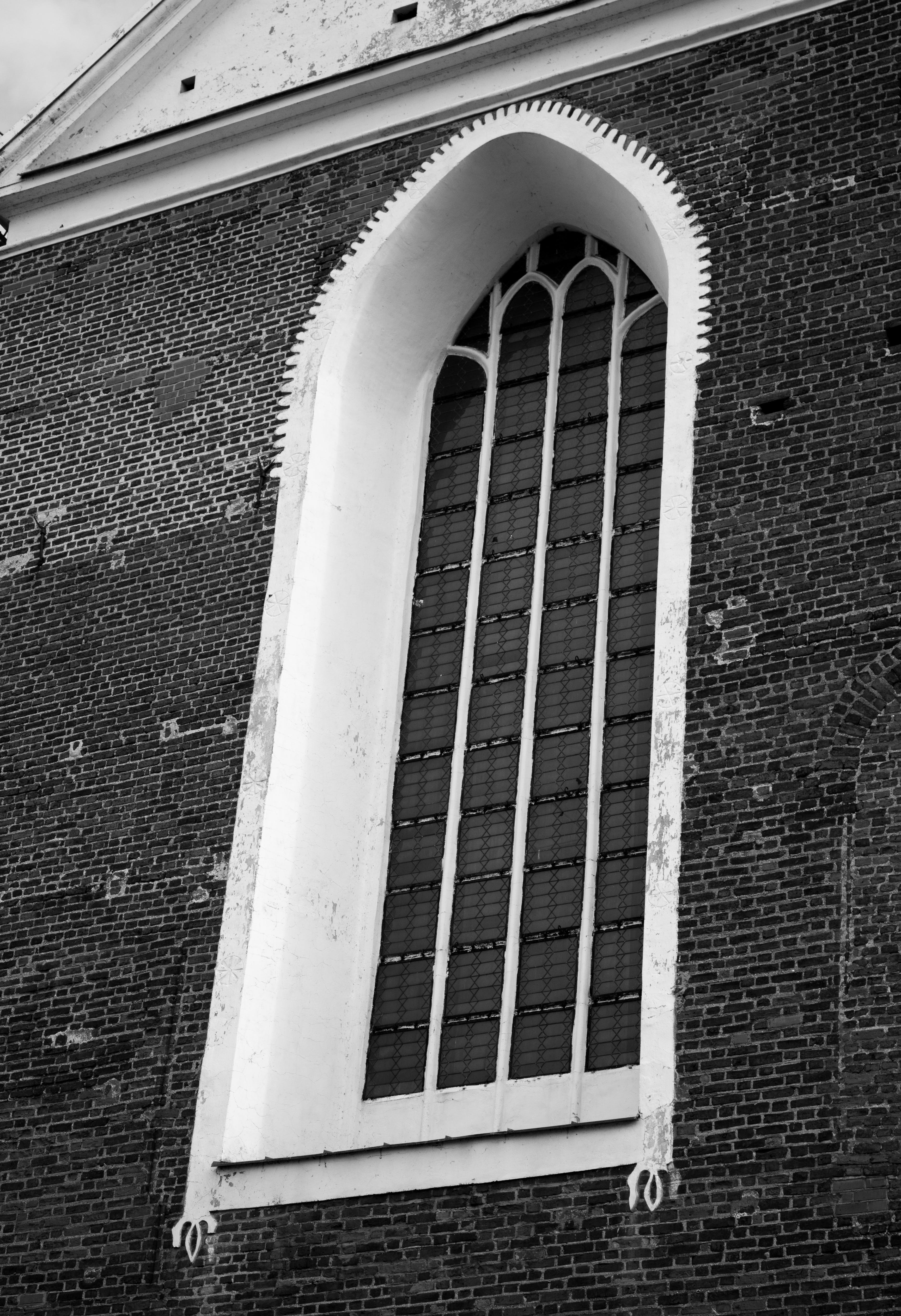 architecture, black-and-white, brickwall