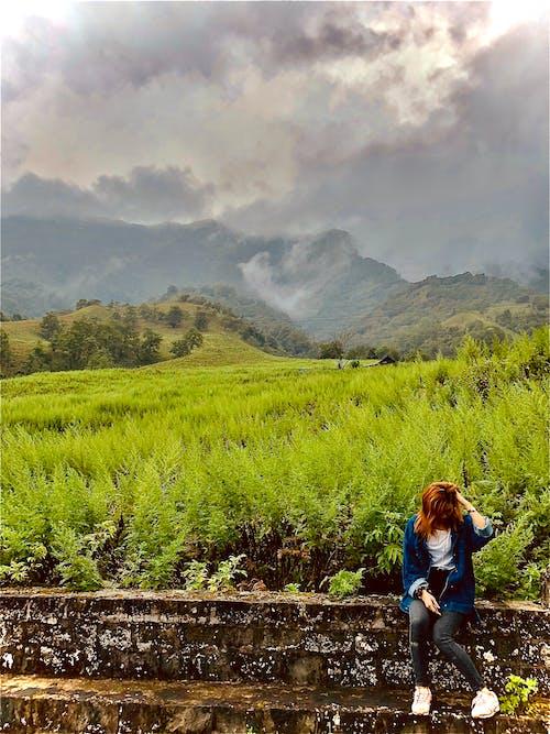 Free stock photo of after rain, asian woman, Beautiful Scenery
