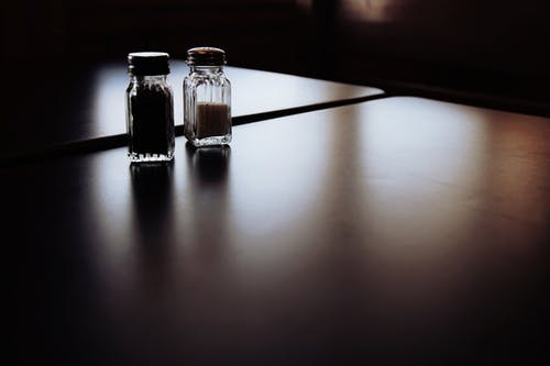 Salt and Pepper Shakers on Table