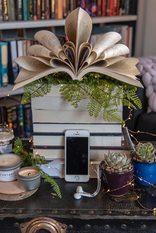blank page, book, bookart