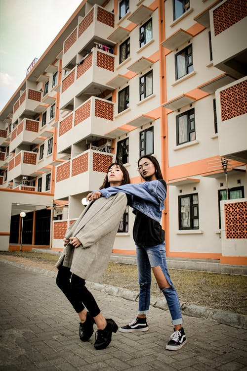 Photo Of Women Outside Building