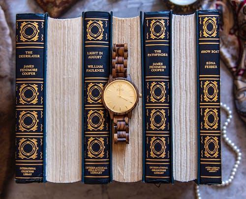 Gratis arkivbilde med flatlay, gamle bøker, juveltoner, klassikere