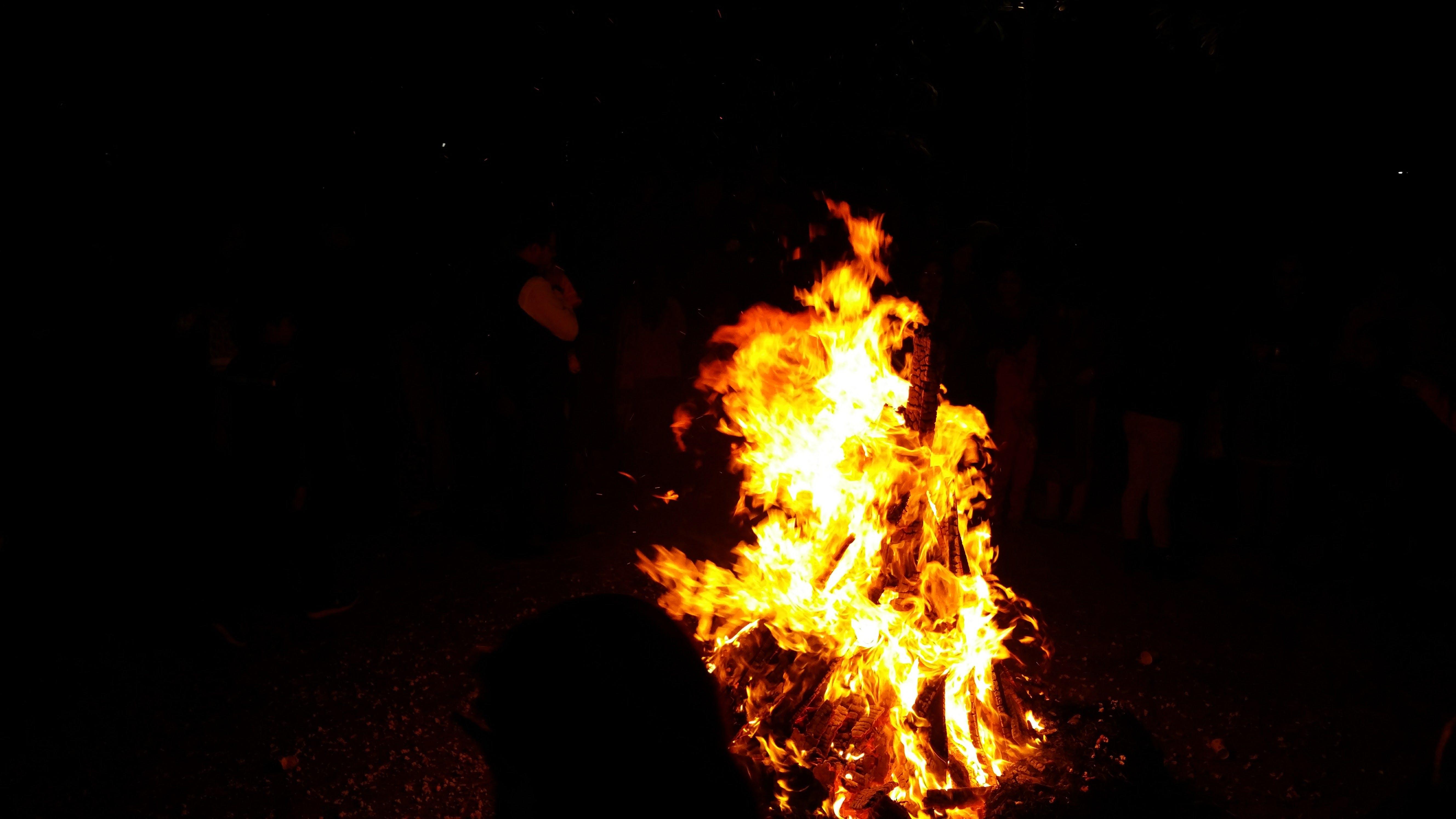 blaze, blazing, bonfire