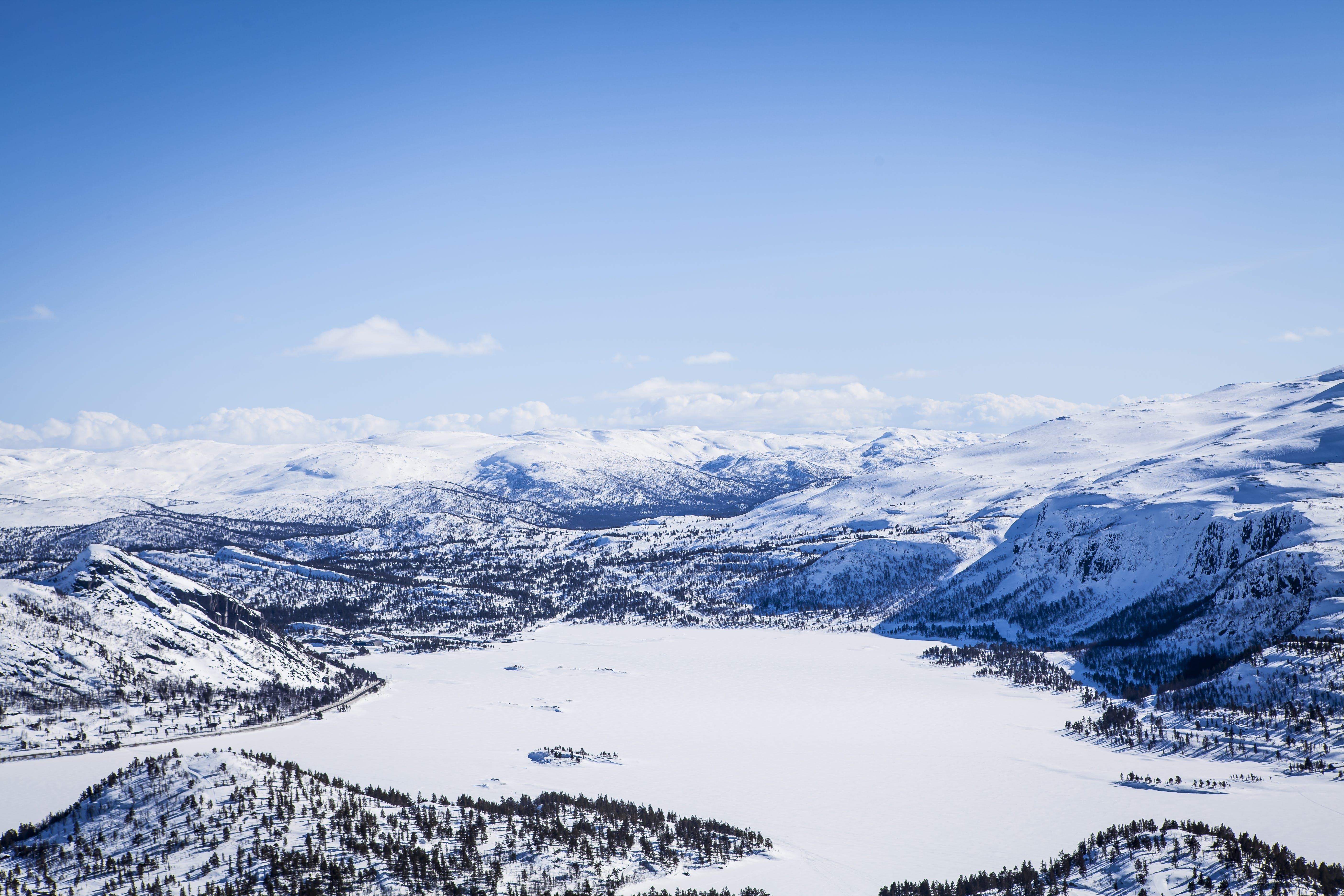 Foto stok gratis alam, awan, beku, bermain ski