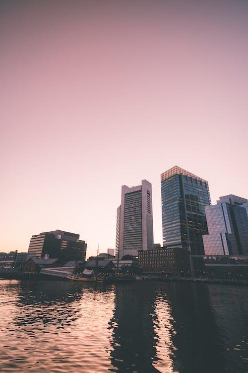 Imagine de stoc gratuită din apus, apus de soare, boston, cer portocaliu