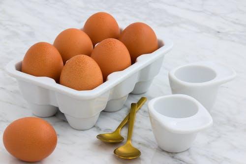 Free stock photo of breakfast, brown-eggs, carrara-marble, chicken
