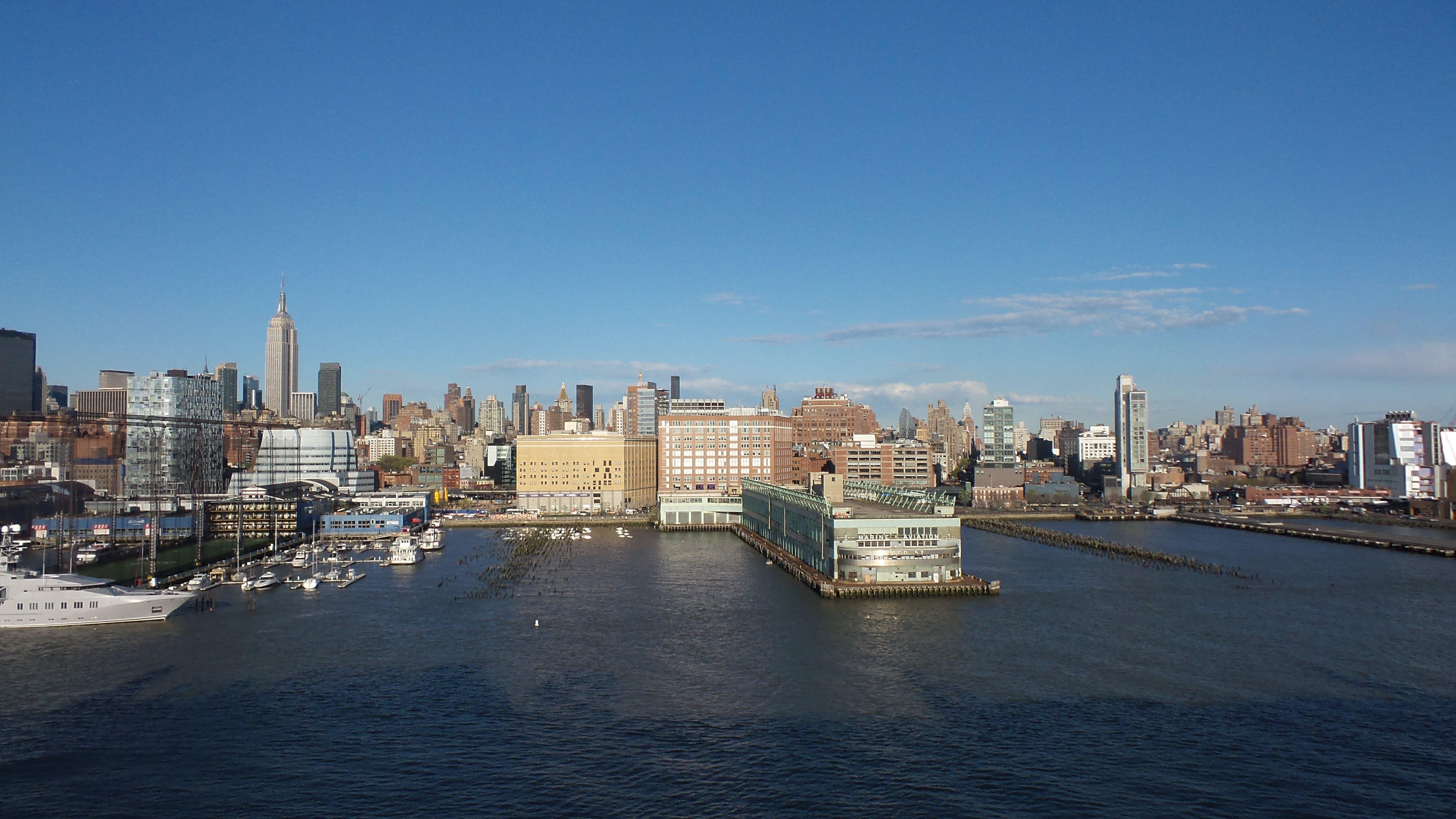 Free stock photo of nyc, NY Harbor, NY Cruise ship port, cruise ship port