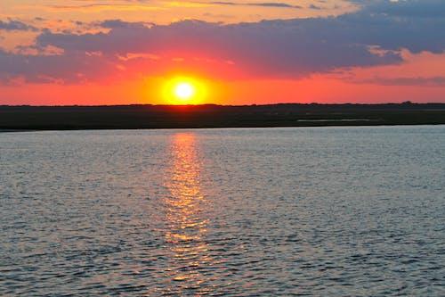 Photos gratuites de baie, coucher de soleil, nature, orange