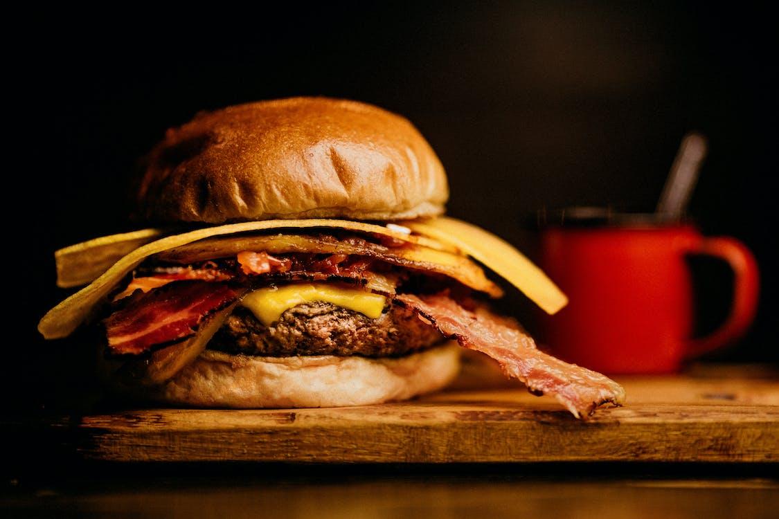 Ham and Bacon Burger