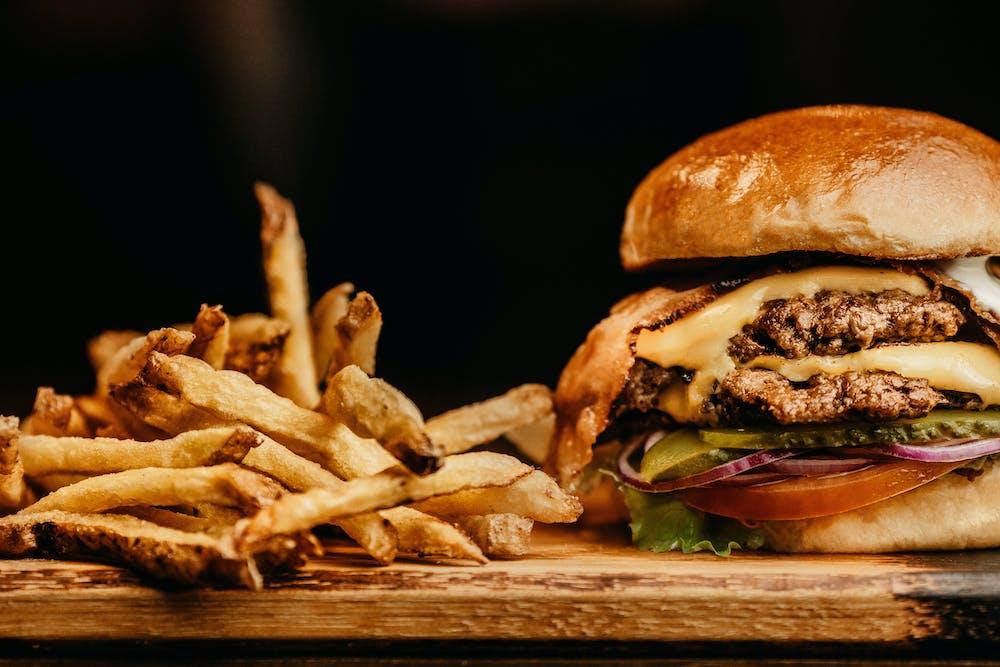Hamburger and Fries Photo