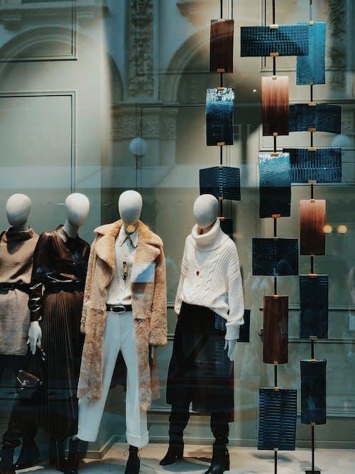 Ilmainen kuvapankkikuva tunnisteilla boutique, mallinuket, muoti, myymälä