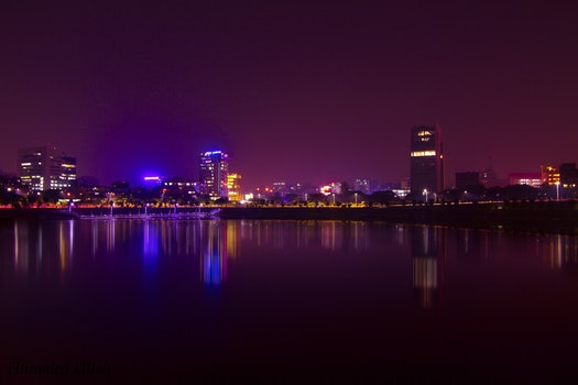 Free stock photo of light, city, sunset, lights