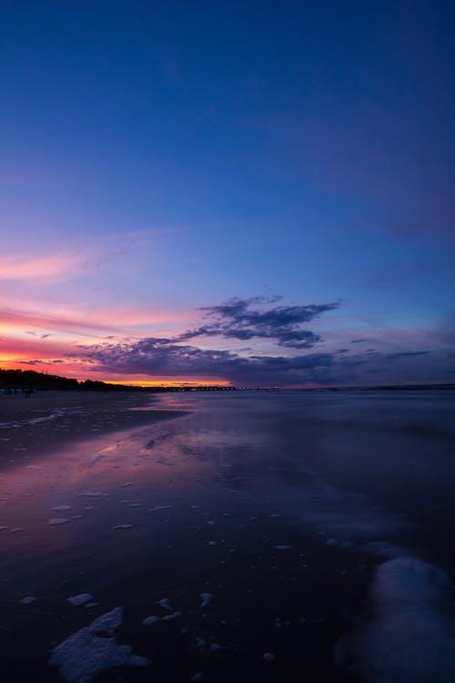 คลื่น, ช่วงเย็นท้องฟ้า, ชายหาด