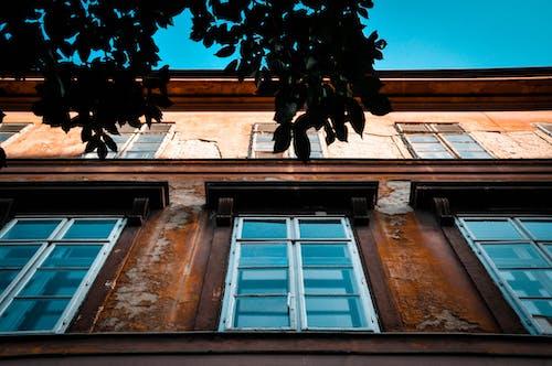 Free stock photo of blue, building, facade, glass windows