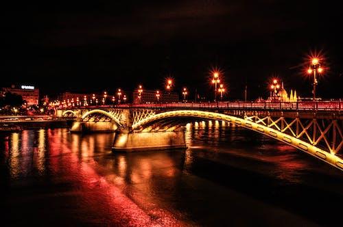 Free stock photo of bridge, Budapest, city, lights