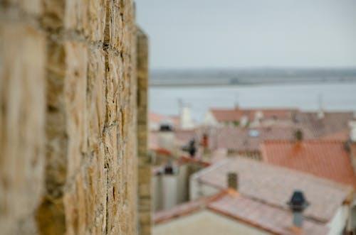 Gratis lagerfoto af borg, hav, kirke, landsby