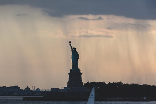 Free stock photo of monument, new york, silhouette