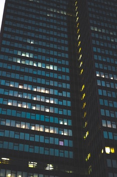 Free stock photo of city, night, building, office