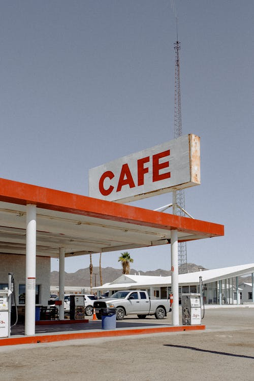 Cafe at the Gasoline Station