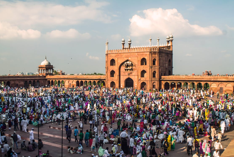 Free stock photo of a mosque, delhi, eid