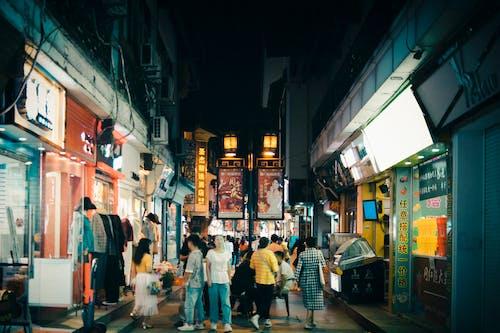 城市, 巷弄, 市中心, 街 的 免费素材照片