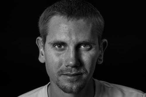 Free stock photo of black and white, black background, european