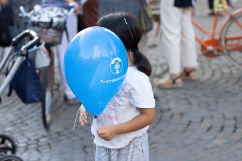 문학, 벌룬, 블루, 아이의 무료 스톡 사진