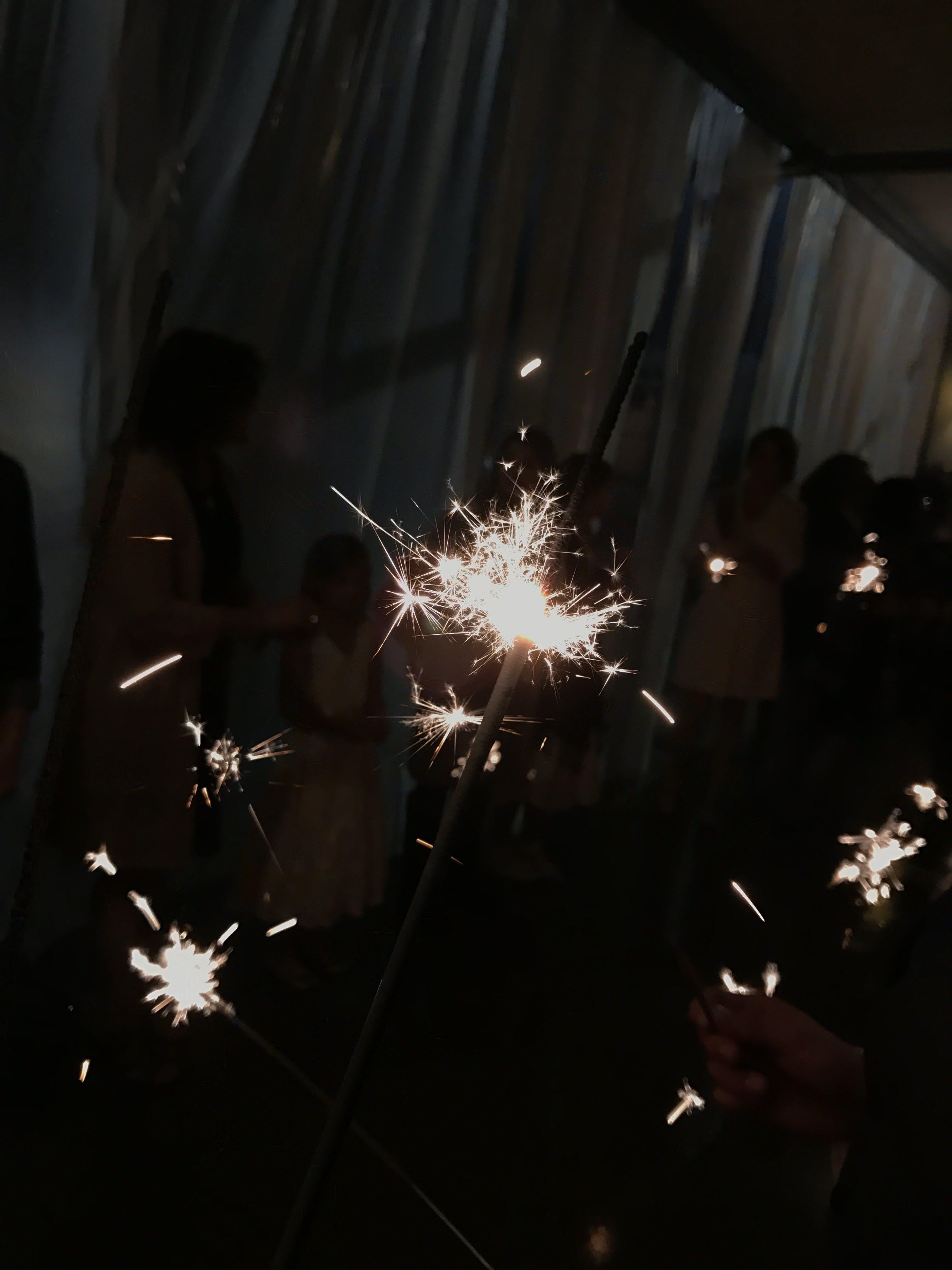 Free stock photo of fire, party, sparkler, wedding