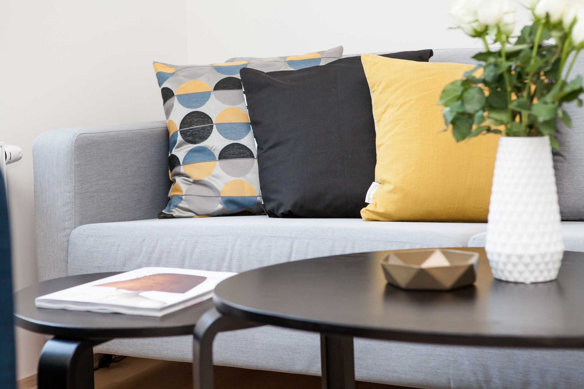 living room couch pillow and coffee table