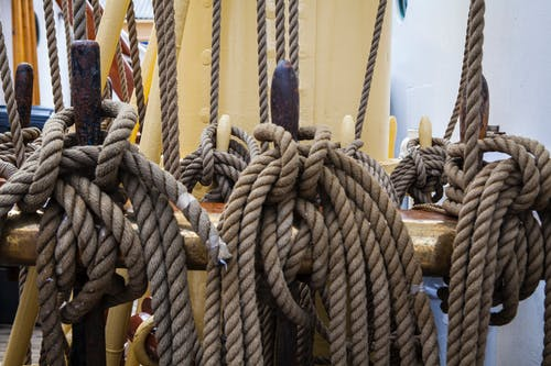 Three Brown Ropes