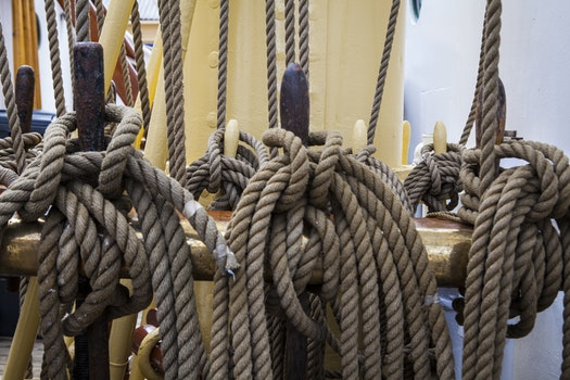Free stock photo of ropes, boat rope, cordage, knots