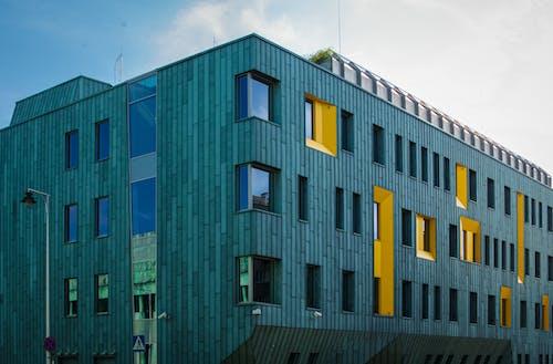 Foto d'estoc gratuïta de arquitecte, arquitectònic, blau, detall arquitectònic