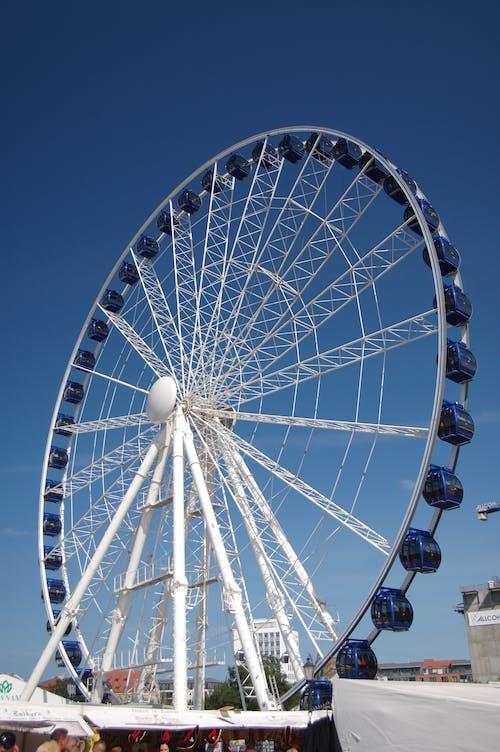 Free stock photo of blue sky, carousel, ferris wheel