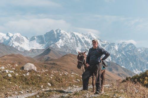 おとこ, 人, 冒険, 動物の無料の写真素材